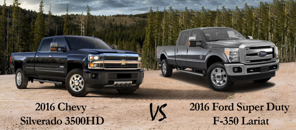 2016 chevy silverado 3500hd vs 2016 ford super duty f 350. Black Bedroom Furniture Sets. Home Design Ideas