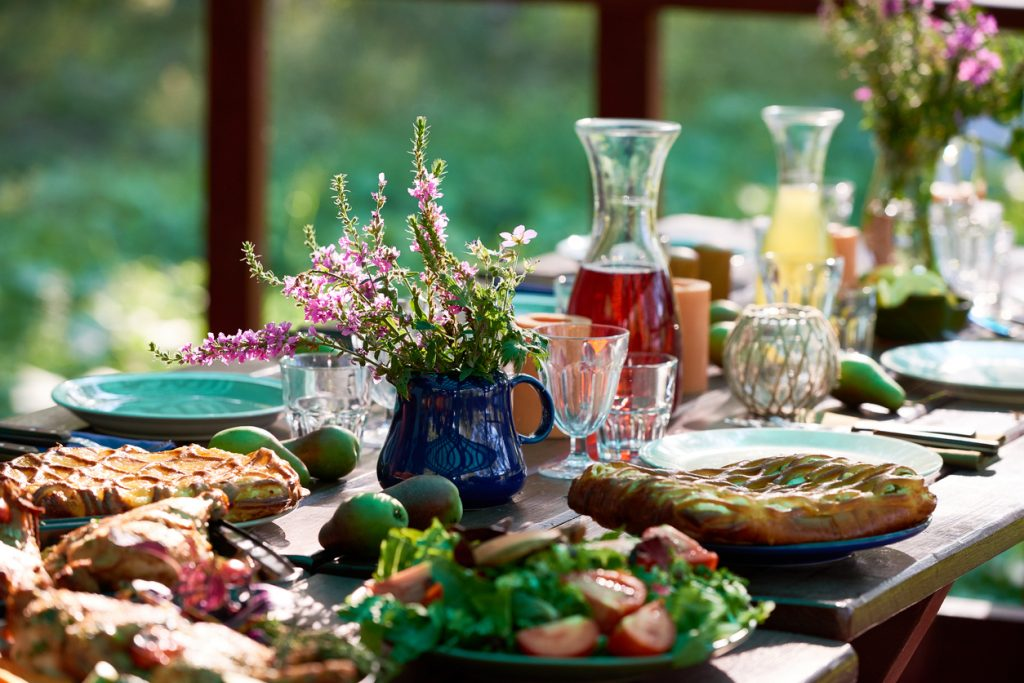 Festive table for Spring Dinner Party