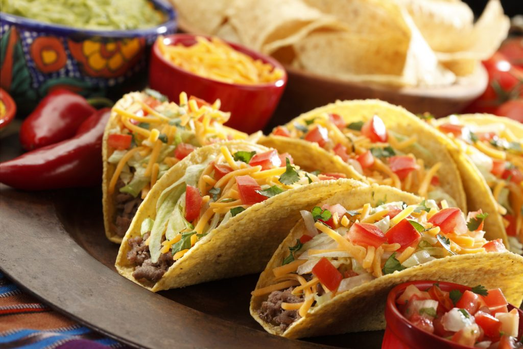 Spread of tacos for Cinco de Mayo